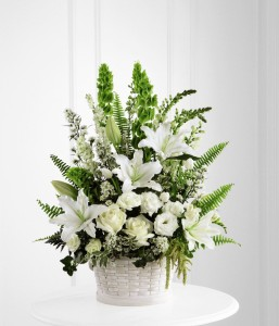 Sympathy Flowers in white blooms