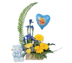 flower arrangement for a baby boy