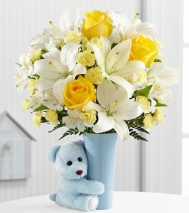 baby boy floral arrangement